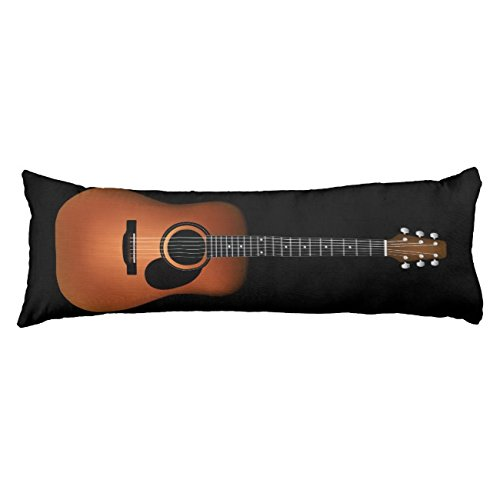 UOOPOO Natural Wood Acoustic Guitar Body Pillow for Mom Typography Polyester Body Pillow Cover Square 20 x 54 Inches for Bed Print on Twin Sides