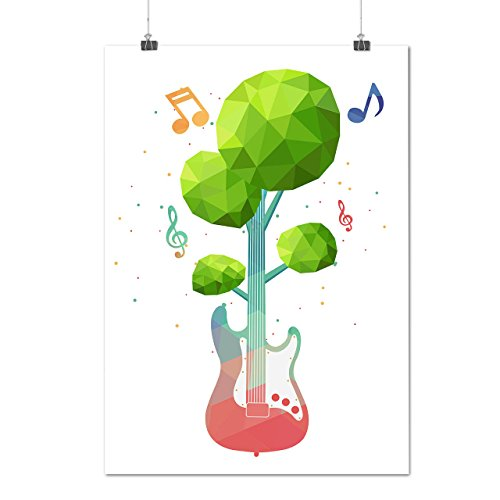 Bass Guitar Nature Music Musical Note Matte/Glossy Poster A4 (9x12 inches) | Wellcoda