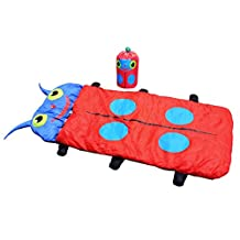 Children Kids Sleeping Bag, OUTAD Camping Gear Equipment Ultralight Compact Packable Bag with Carry Bag for Hiking Backpacking Camping & Travel -Red