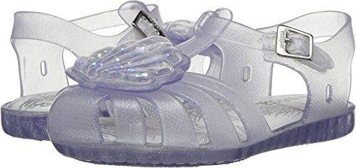 Mini Melissa Girls' Mini Aranha XII Flat Sandal, Clear Glass Sparkly, 7 Medium US Toddler