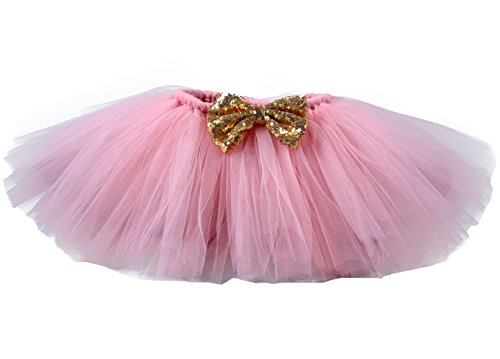Tutu Dreams Baby Girls Pink Tutus Skirts Minnie First Birthday Party (2- for 1-2T, Pink)