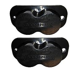 Fixxxer Gun Magnet with 25 lb Rating (2 Pack) for desk, closet, table, car, or safe mount