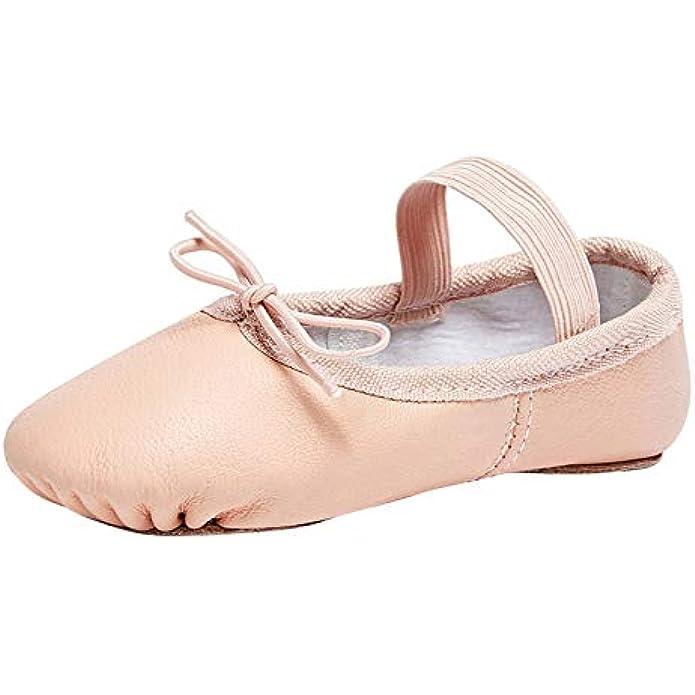 STELLE Premium Authentic Leather Baby Ballet Slipper/Ballet Shoes(Toddler/Little Kid/Big Kid)