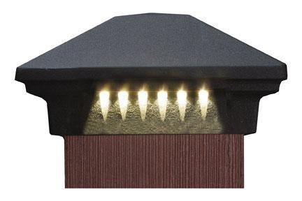 "DEKOR Rondi Grande LED Post Cap Light, 5-1/2"", Bronze"