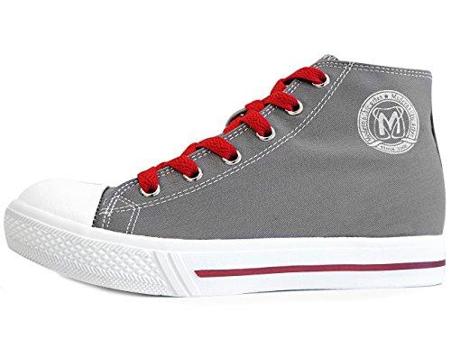 Mnx15 Mens Hiss Skor Höjd Öka 2,7 Rino Grå Kil Sneakers Hög Klack Sneakers Svart