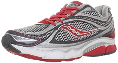 Saucony Women's Progrid Omni 11 Running Shoe,Silver/Grey/Red,7 M US