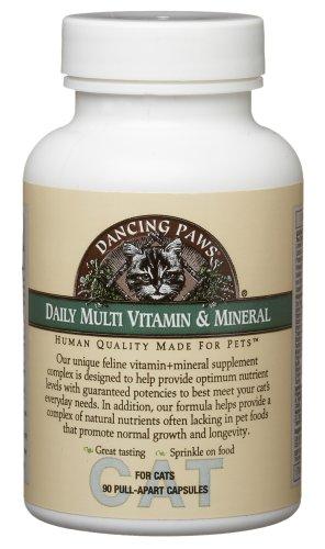 Dancing Paws Feline Multi Vitamin & Minerals, 90-Count Pull-Apart Capsules (Pack of 2)