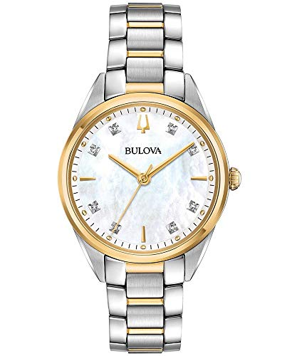 (BULOVA Mother of Pearl Stainless Steel Watch-98P184)
