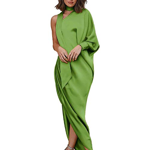 Party Dresses For Women Liraly New Fashion Formal Long Evening Dress One Shoulder Party Dress(Green,US-6 /CN-M)