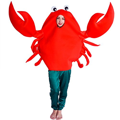 flatwhite Adult Unisex King Crab Costume,Red,One Size - coolthings.us