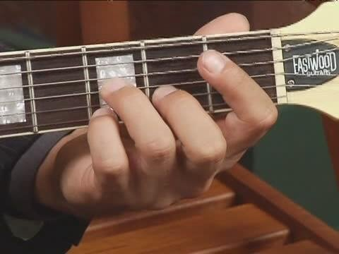 Play Eb7 Chord On The Top Guitar Strings 2nd Inversion