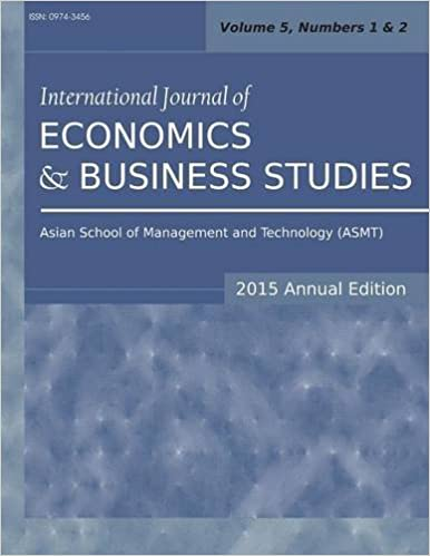 International Journal of Economics and Business Studies (2015 Annual Edition): Vol.5, Nos.1-2