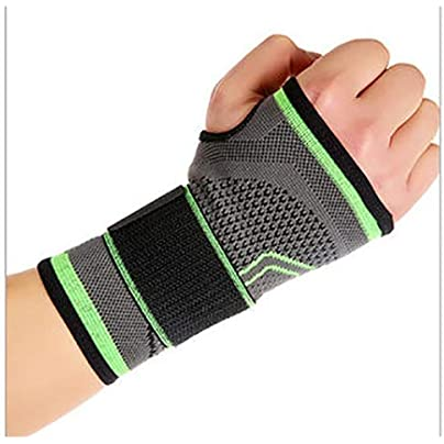 JJZXPJ Wrist Brace Support Wristbands Breathable High Elastic Bandage Sports Wristbands Fitness Yoga Hand Palm Brace Relieve And Treat Wrist Pain Size XL Estimated Price £15.30 -