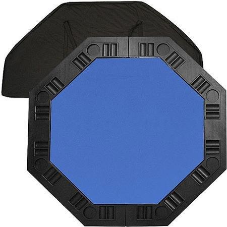 Trademark Poker 48'' 8-Player Octagonal Table Top, Blue