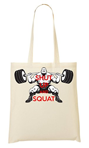 Bolsa Potente Compra Bolso Mano Motivation E Allenamento De Up Real Tozzo Vero Squat Forte Men Motivazione La Workout Proprio Zitto Strong Powerful Shut Uomini 7gvOZ00