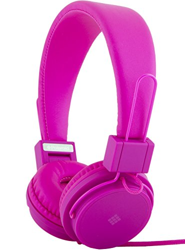 Polaroid PHP8500PK Stereo Headphones with Microphone, Fordable, Tangle-Proof, Compatible with All Devices
