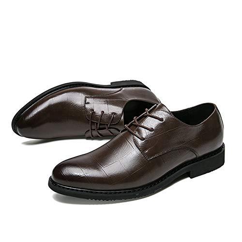 Scarpe Stile Formali Britannico Nuovo Cricket da Classico Uomo Casual Marrone da Scarpe Semplice Stile Business Oxford zP8vWq