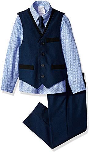 - Van Heusen Boys' Toddler 4-Piece Formal Dresswear Vest Set, sail Blue Navy, 4T