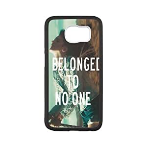 Lana Del Rey Series, Samsung Galaxy S6 Case, Lana Del Rey Quotes,I Belonged to no One Case for Samsung Galaxy S6 [White]