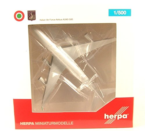 HERPA 530385 Italian Air Force Airbus A340-500-31° Stormo Aircraft Model Kit, Multi-Colour