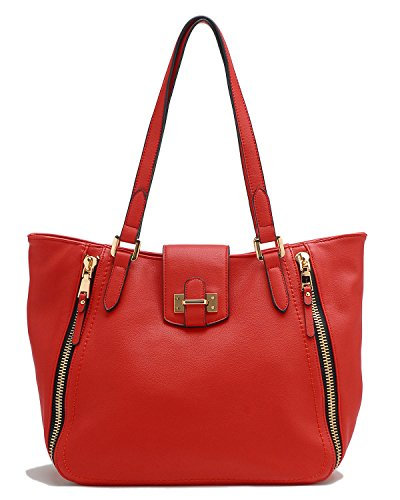 Tosca Tote Zippered Red Handbag Zippered Tosca Tote Zippered Tote Handbag Red Handbag Tosca rwqvrA