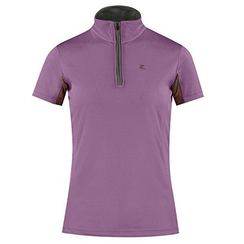 Horze Trista Ladies UV Ice Fit Short Sleeve Sun Shirt Grapeade/Grape Juice 10 (Short Shirt Show Sleeve Equestrian)