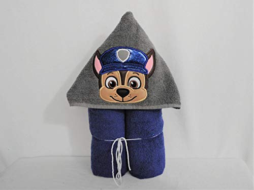 (Police Cop Pup Hooded Bath Towel - Baby, Child,)