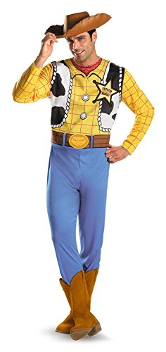 UHC Men's Classic Disney Toy Story Woody Theme Party Fancy Costume, Large (42-46) (Disney Villain Costume)