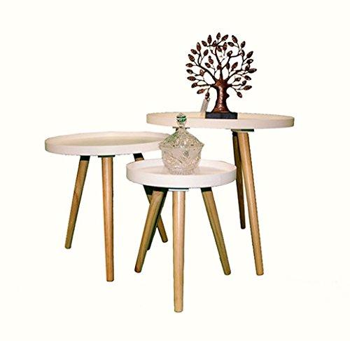 Beistelltisch Couchtisch Rund Holz Weiss 40 40cm 1530631 Amazon
