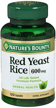 Nature's Bounty Red Yeast Rice 600 mg Herbal Supplement Capsules - 120 ct, Pack of 6 by Nature's Bounty