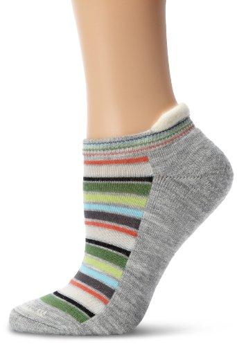 Goodhew Women's Awning Stripe Sock, Small/Medium, Light Grey