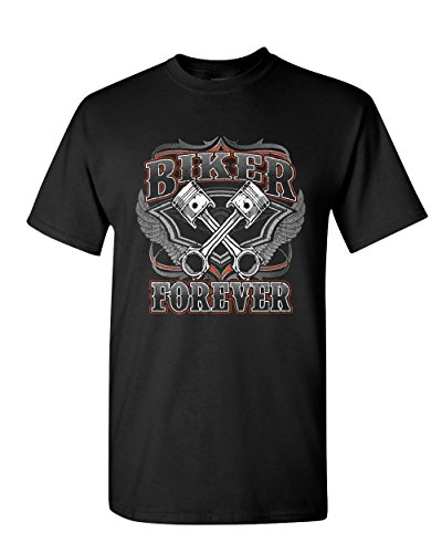 Biker Forever T-Shirt Chopper Bobber Motorcycle MC Route 66 Black L - Choppers Forever Black T-shirt