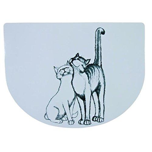 Trixie Napfunterlage Schmusekatzen, 40 × 30 cm, weiß