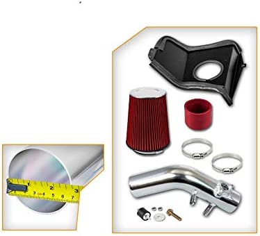 High Performance Parts Cold Air Intake Kit /& Red Filter Combo Compatible for Subaru 2008-2014 WRX//STI H4 2.5L Turbo