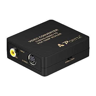 Portta AV/CVBS Composite S-Video to VGA Mini Converter upscaler support 1080p
