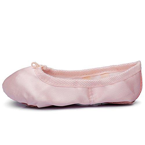Womans Raso Balletto Scarpe Da Yoga Piatte Suola Unica Suola Naturale