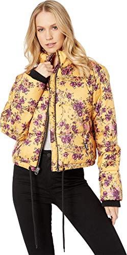 Juicy Couture Women's Etched Floral Printed Puffer Etched Floral/Soft Large