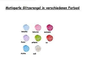 Diseño de perlas con purpurina pantalla