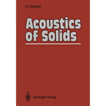 Acoustics of Solids