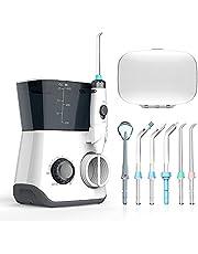 Oral Irrigator, Dental Oral Irrigator 600ML Capacity with 8 Multifunctional Tips 10 Water Pressures Countertop Dental Flosser(FDA Approved)