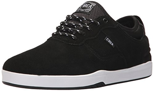 C1RCA Men's Salix Surefit Ultraflex Fusion Grip Skate Shoe, Black/White, 13.0 Medium US