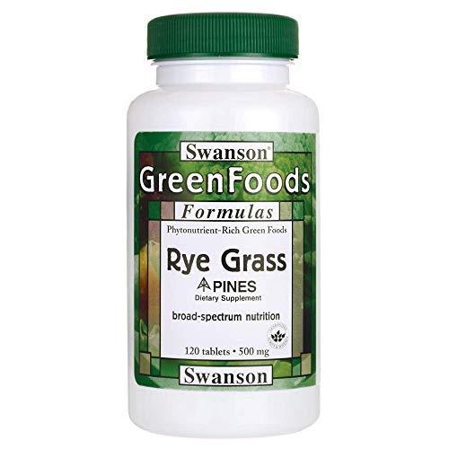 Swanson Rye Grass 500 Milligrams 120 Tabs