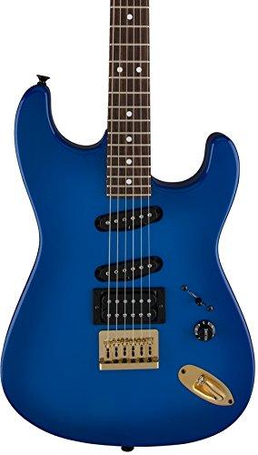 - Charvel Artist Signature Jake E Lee 6 String Electric Guitar, 22 Frets, Bolt-On Neck, Rosewood Fingerboard, Polyester, Blue Burst