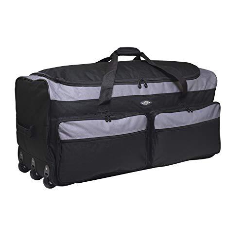 Travelers Club 36″ X-Large Expandable Triple Wheeled Rolling Duffel Luggage Black