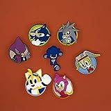 7Pcs/Lot Classic Game Cartoon Sonic The Hedgehog