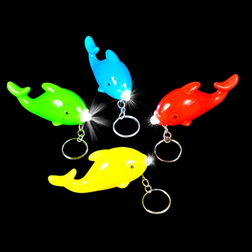 Flashing Dolphin Key Chains 12