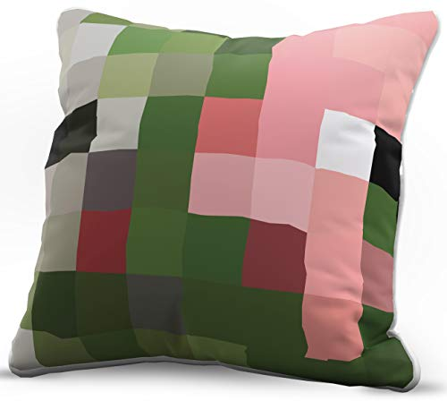 Jay Franco Minecraft Zombie Pigman Decorative Pillow Cover - Kids Super Soft 1-Pack Throw Pillow Cover - Measures 15 Inches x 15 Inches (Official Minecraft Product)]()