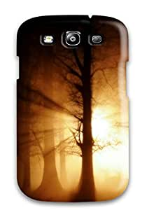 Hot Galaxy S3 Hard Back With Bumper Silicone Gel Tpu Case Cover Sunset In Jungle 5570678K10503545