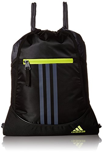 adidas Unisex Alliance II Sackpack, Black/Black Jersey/Onix/Semi Solar Yellow, ONE SIZE from adidas