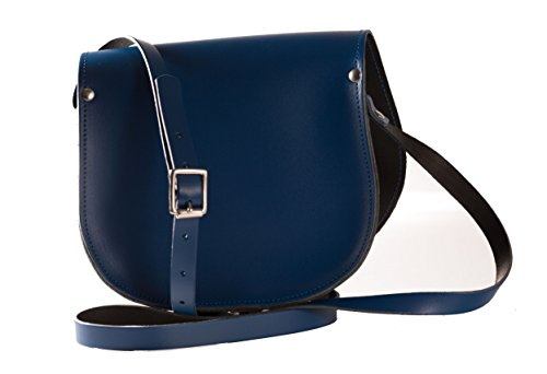 Leather many Made Buckle Navy in Body Available Handbag Cross Saddle Closure Hand with colours q5Pxwaq